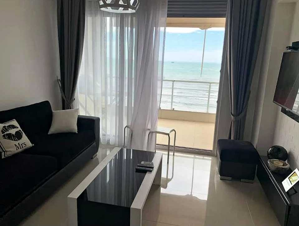 Двухкомнатная квартира с видом на море, 1-я линия 1+1. 60m2. Дуррес