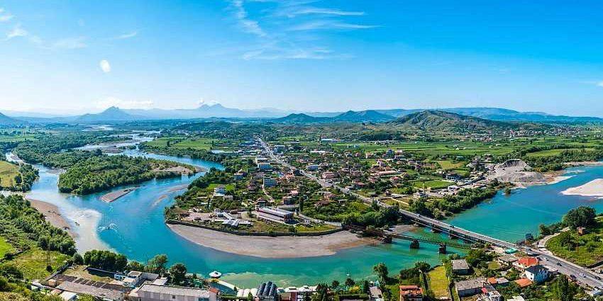Город Шкодер в Албании.